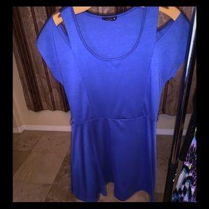 Dark blue knee length dress